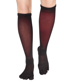 Knitido Asymmetric Compression TS 2.0 Running Socks, noir/rouge